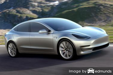 Insurance quote for Tesla Model 3 in Milwaukee