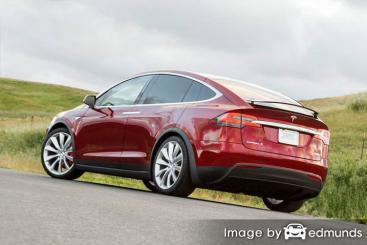 Insurance quote for Tesla Model X in Milwaukee