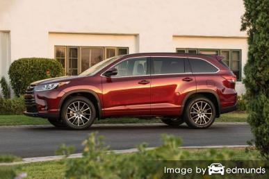 Insurance rates Toyota Highlander in Milwaukee
